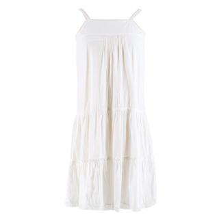 Bonpoint 12 Year Old White Layered Dress