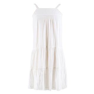 Bonpoint 12 Year Old White Layered Dress