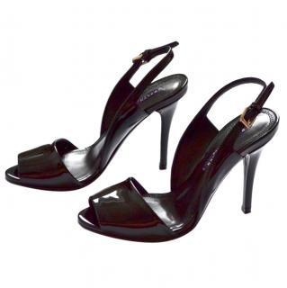 Ralph Lauren Collection black patent sandals