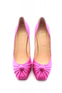 Christian Louboutin 'Viva Lola' Satin Pumps