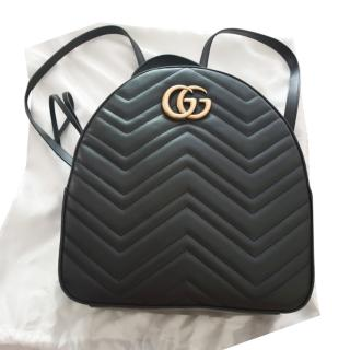 Gucci Black GG Marmont leather backpack