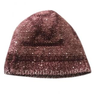 Louis Vuitton Burgundy Wool Beanie