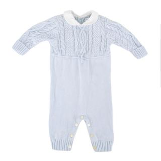 Ralph Lauren 6 Months Blue Knit Baby Grow