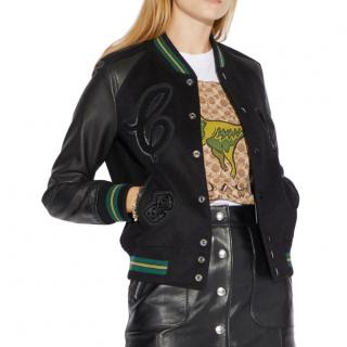 Current Coach x The Viper Room Black Wool Patch Varsity Jacket NWT/Box