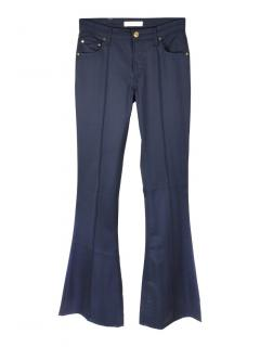 Pierre Balmain bootcut navy trousers