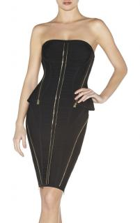 Herve Leger 'Xandra' Black Dress