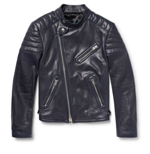 Tom Ford Black Leather Biker Jacket