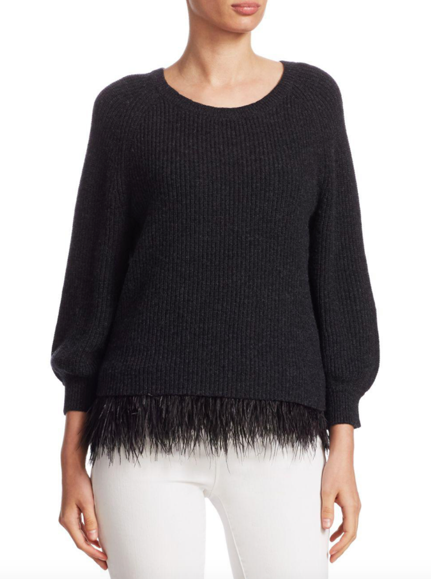 Alice + Olivia 'Lenita' Wool-Blend Sweater
