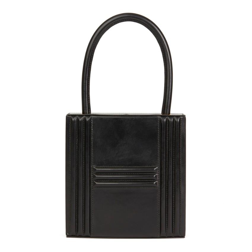 b15c2090b6b Hermes Vintage Box Leather Cadena Top Handle Bag   HEWI London