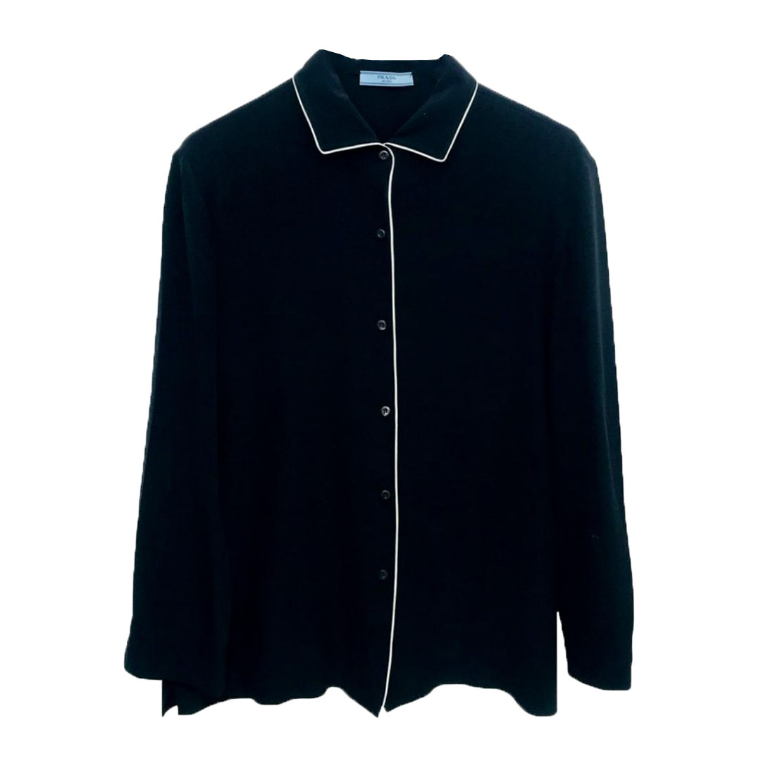 a4e37ec1b1c898 Prada Silk Blouse 5