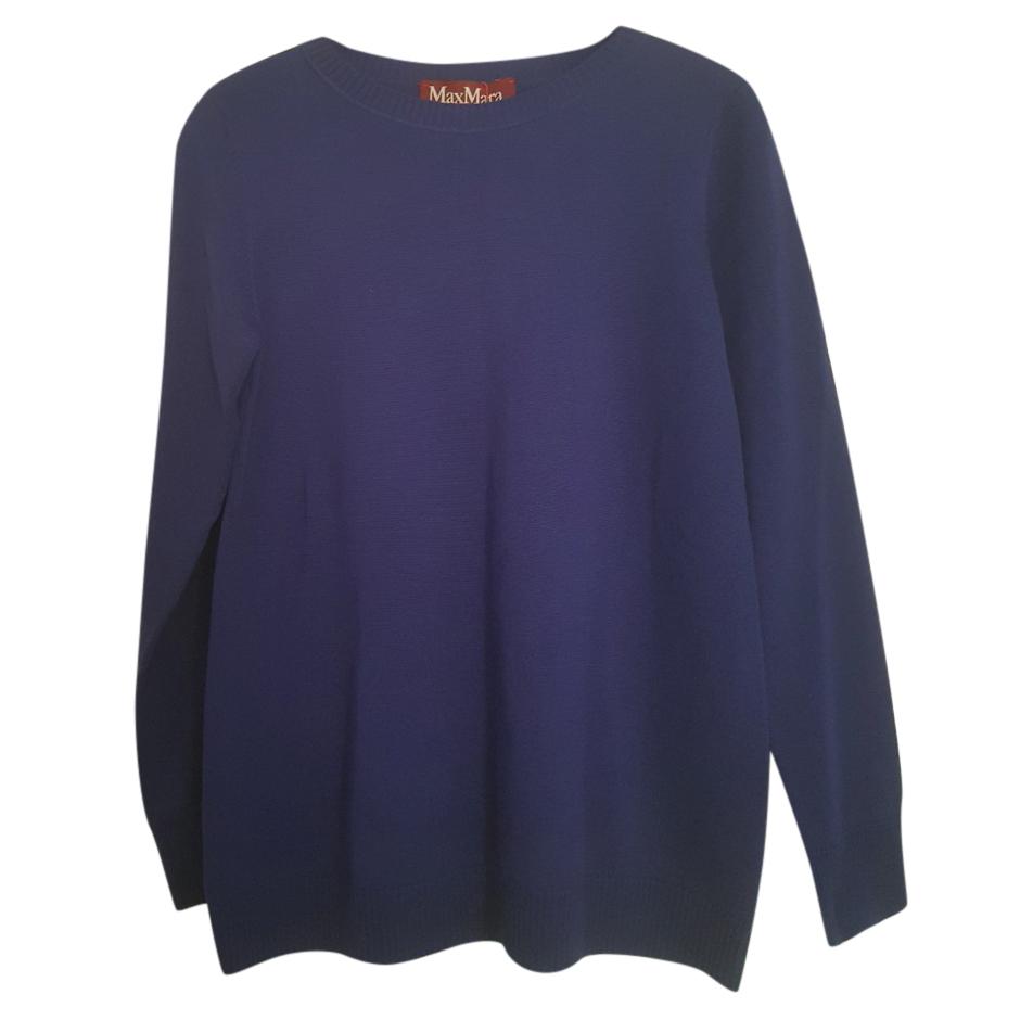 MaxMara royal blue wool crew neck jumper