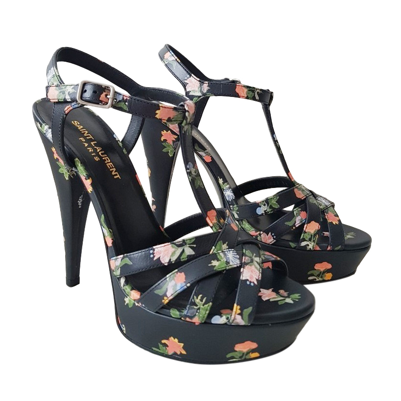 Saint Laurent Floral Tribute Sandals