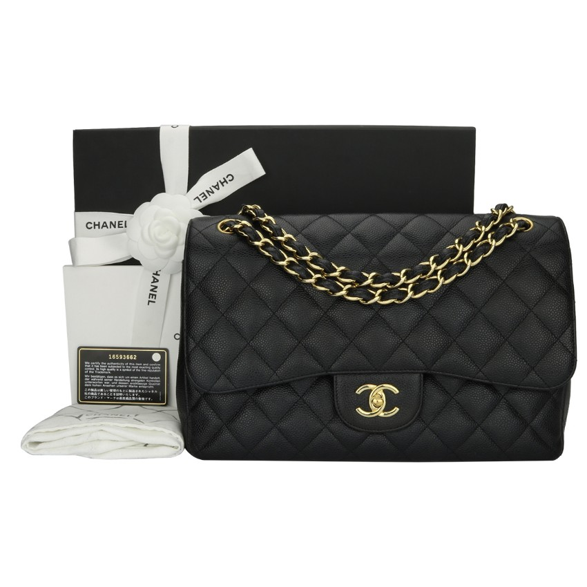 46a312a78938 Chanel Caviar Leather Jumbo Double Flap Bag | HEWI London
