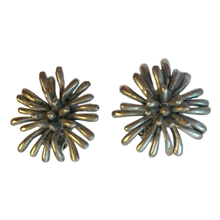 Oscar De La Renta Modernist Vintage Earrings