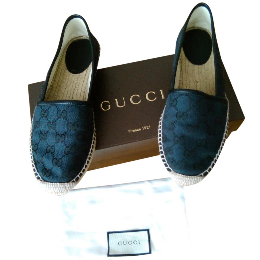 Gucci Black Monogram Espadrilles