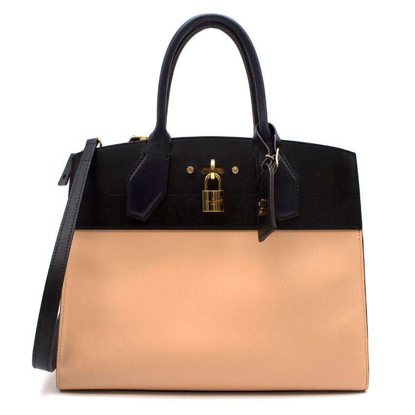 Louis Vuitton City Steamer MM Vanilla/Noir Handbag