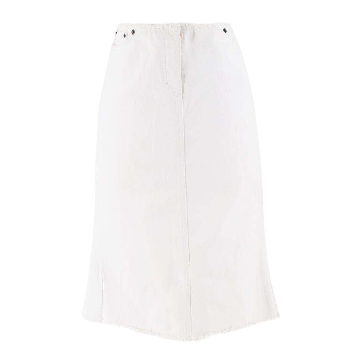 Paul Smith White Denim Skirt