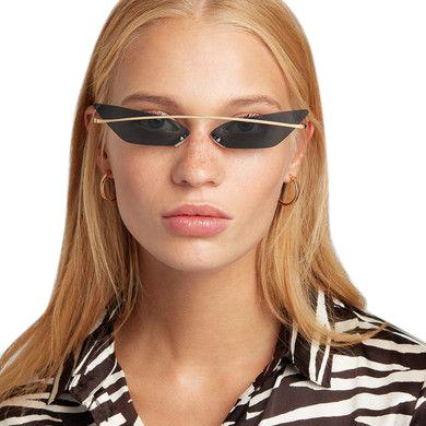 Poppy Lissiman Skinny Demon Black Sunglasses