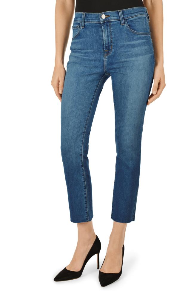 J Brand Lovesick Ruby High-Rise Crop Cigarette Jeans