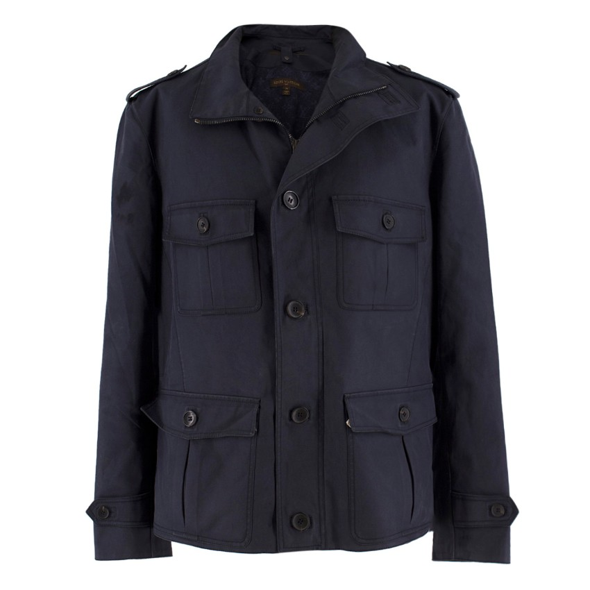 0d1008b1 Louis Vuitton Men's Navy Parka