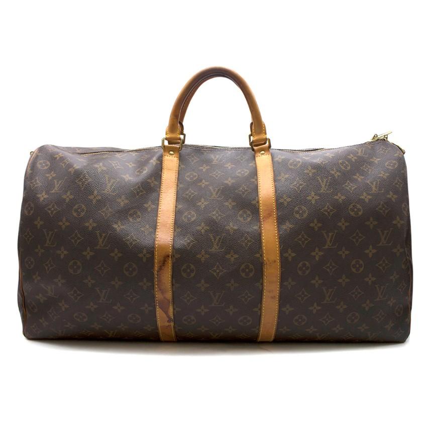 Louis Vuitton Keepall Bandouliere 60 Monogram Canvas Bag