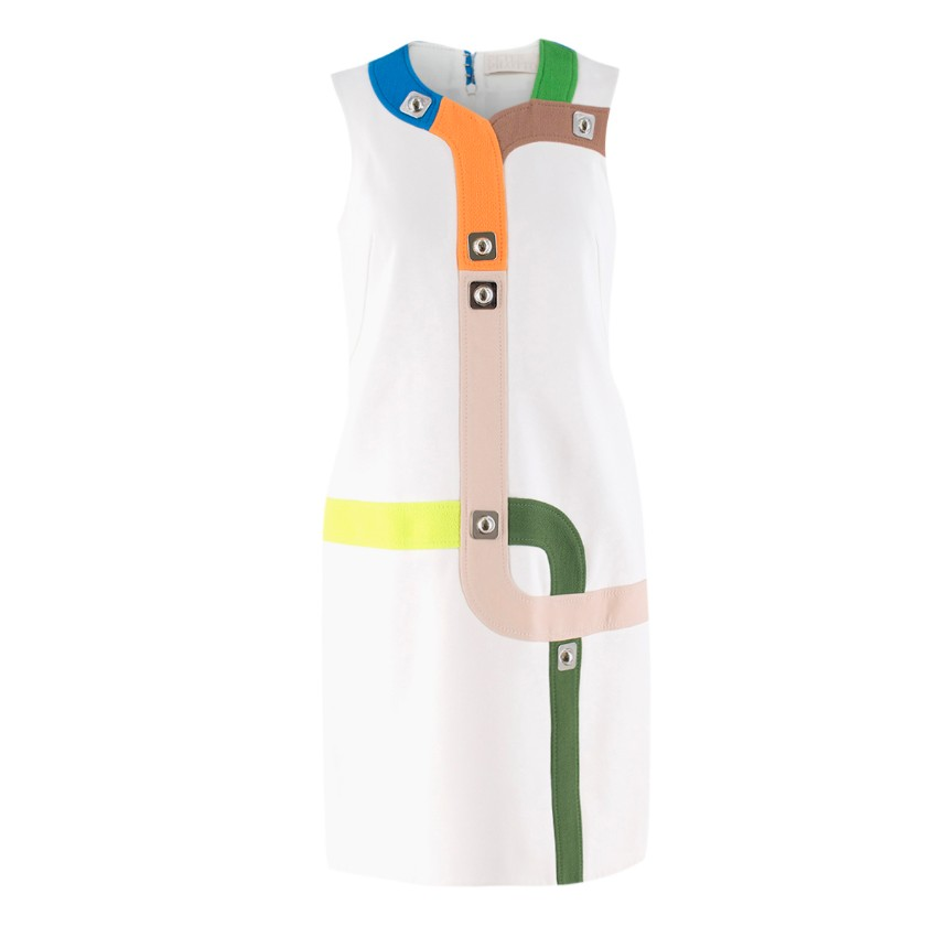 Peter Pilotto White Track Dress