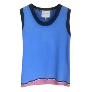 Roksanda Blue Knit Sleeveless Top