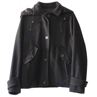 Max Mara Wool Blend Hooded Jacket