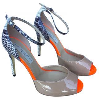 Stella McCartney contrast-panel sandels