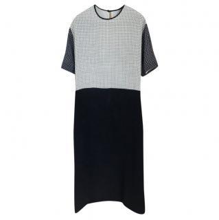 Victoria Victoria Beckham Monochrome Printed Midi Dress
