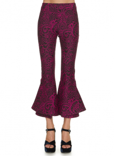 Mary Katrantzou Clockwork paisley-jacquard kick-flare trousers