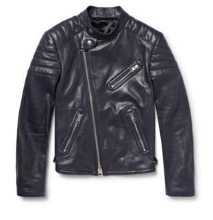 85727bb4e04 Tom Ford Black Leather Biker Jacket