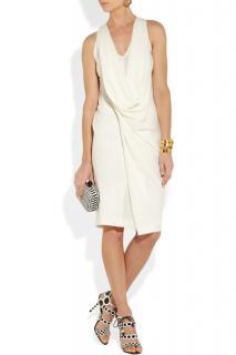 Donna Karan Draped Textured Crepe Dress