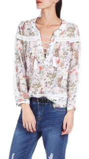 The Kooples Botanic floral print blouse