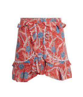 Isabel Marant red cotton skirt