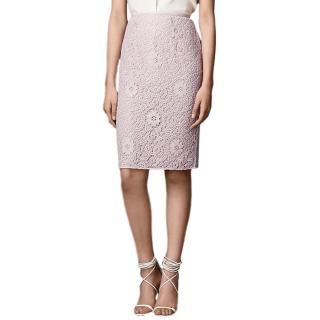 Burberry Crochet-Lace Pencil Skirt