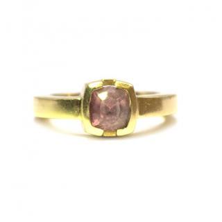 Bespoke 18k Yellow Gold Pink Sapphire Ring