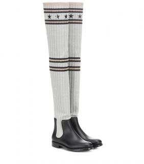 Givenchy Over-The-Knee Stretch-Knit Boots