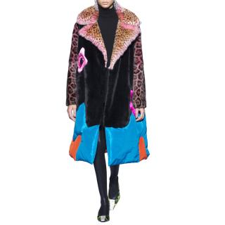Tom Ford Multi-Print Oversized Runway Collection Coat