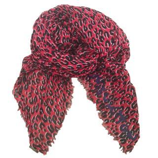 Louis Vuitton Leopard Print Cashmere & Silk Stole
