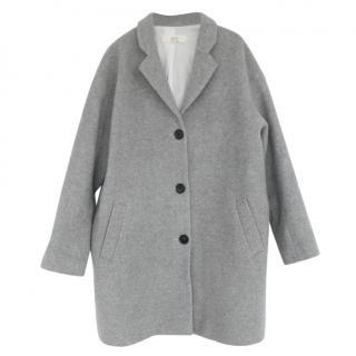 Athe by Vanessa Bruno Grey Oversized Crombie Coat