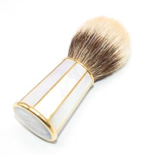 G.Lorenzi Milano Mother of Pearl and Gold Shaving Brush
