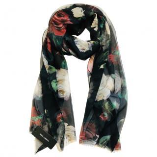 Dolce & Gabbana Silk Roses Scarf