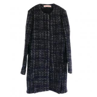 Marni Tweed Collarless Coat