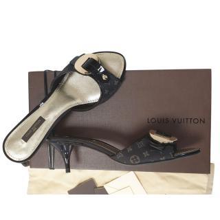 Louis Vuitton Monogram Kitten Heel Pumps