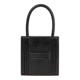 Hermes Vintage Box Leather Cadena Top Handle Bag
