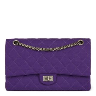 Chanel Quilted Jersey Reissue 226 Double Flap Bag