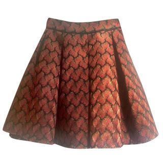 Maje patterned circle skirt