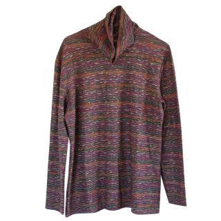 Missoni Stripe Knit Turtleneck Top
