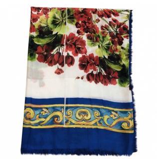 Dolce & Gabbana Floral print large cashmere blend wrap/scarf